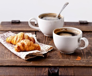 breakfast, croissants, and coffee image