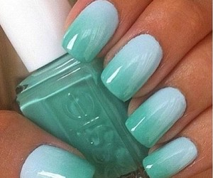 nails, blue, and essie image