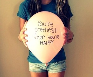 happy, pretty, and girl image