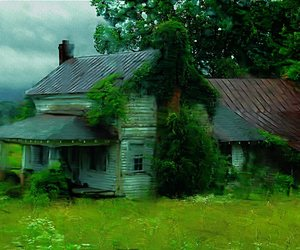 abandoned, blue, and farm image