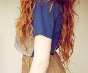 chic, red hair, and woman image
