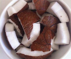 coconut, food, and delicious image