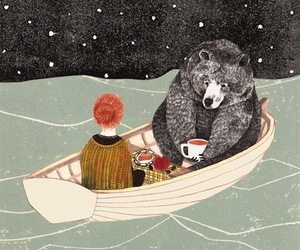 bear, illustration, and pretty image