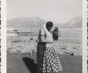 1950's, the kiss, and love couples image