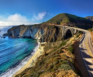 california, road, and america image