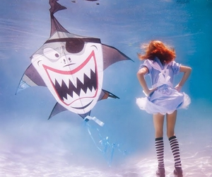 alice, alice in wonderland, and underwater image