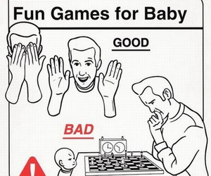 baby, funny, and games image