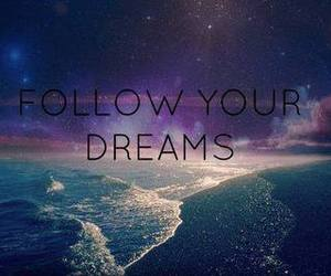 Dream, follow, and galaxy image