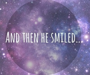 smile, galaxy, and quote image