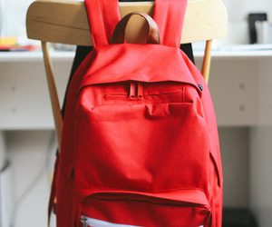 bag, backpack, and red image