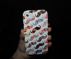 moustache, case, and iphone image