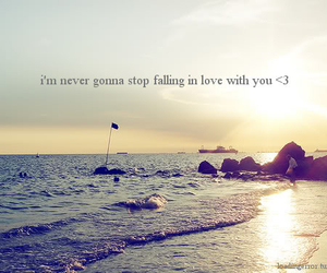 love, beach, and quote image