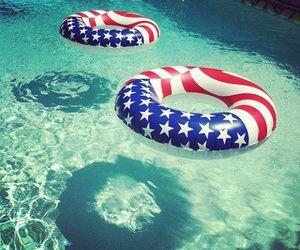 summer, pool, and usa image