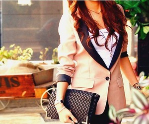 fashion, girl, and blazer image