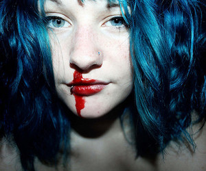 blood, girl, and maisie cousins image