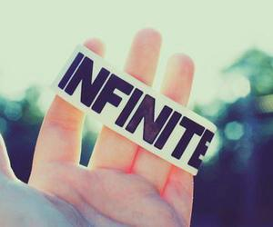infinite, hand, and text image