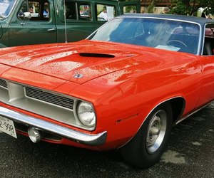car, muscle cars, and plymouth image