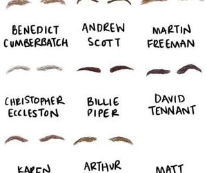 doctor who, sherlock, and eyebrows image