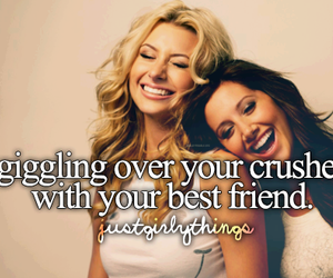 best friend, giggling, and lol image