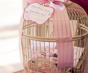 birdcage, gifts, and pink image