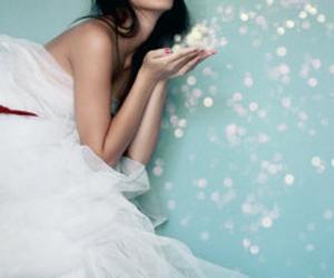 girl, dress, and glitter image
