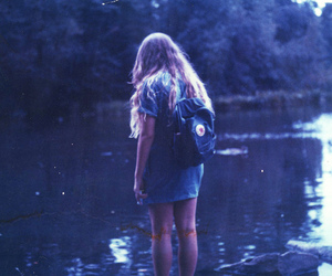 girl, water, and indie image