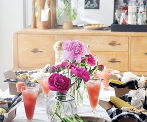 breakfast, brunch, and flowers image