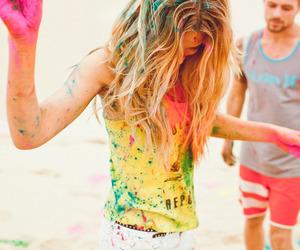 girl, summer, and fun image