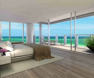 bedroom, luxury, and beach image