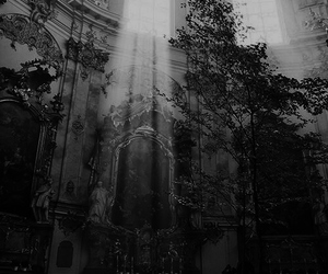 architecture, cathedral, and black and white image