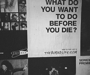 die, text, and black and white image