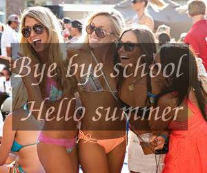 summer, school, and bye image