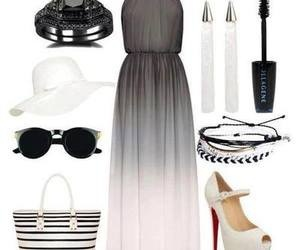 dress, bag, and outfit image