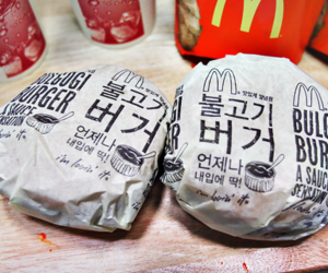 burger, wraping, and fries image