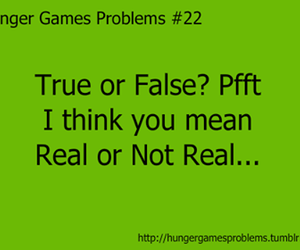 problems, not real, and hunger games image