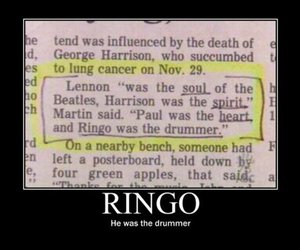 drummer, funny, and the beatles image