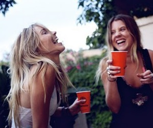 girl, friends, and drink image