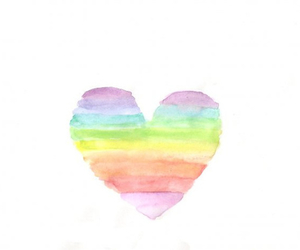heart, rainbow, and colors image
