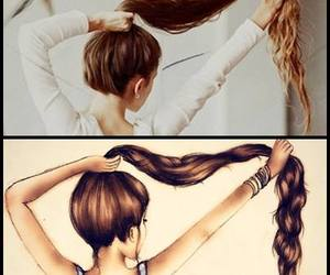 animation, hair, and long image