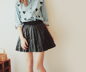 skirt, heart, and kfashion image