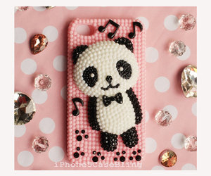 panda, pink, and iphone 5 case image