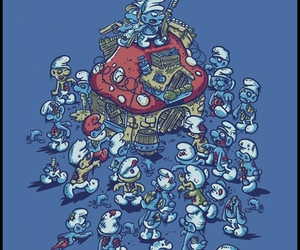 smurfs and zombies image