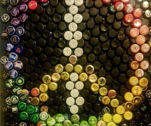 bottle, love, and color image