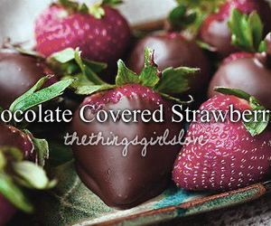 chocolate, healthy, and strawberries image