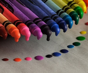crayon, colors, and rainbow image