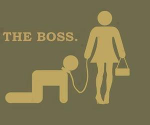 boss, funny, and she image