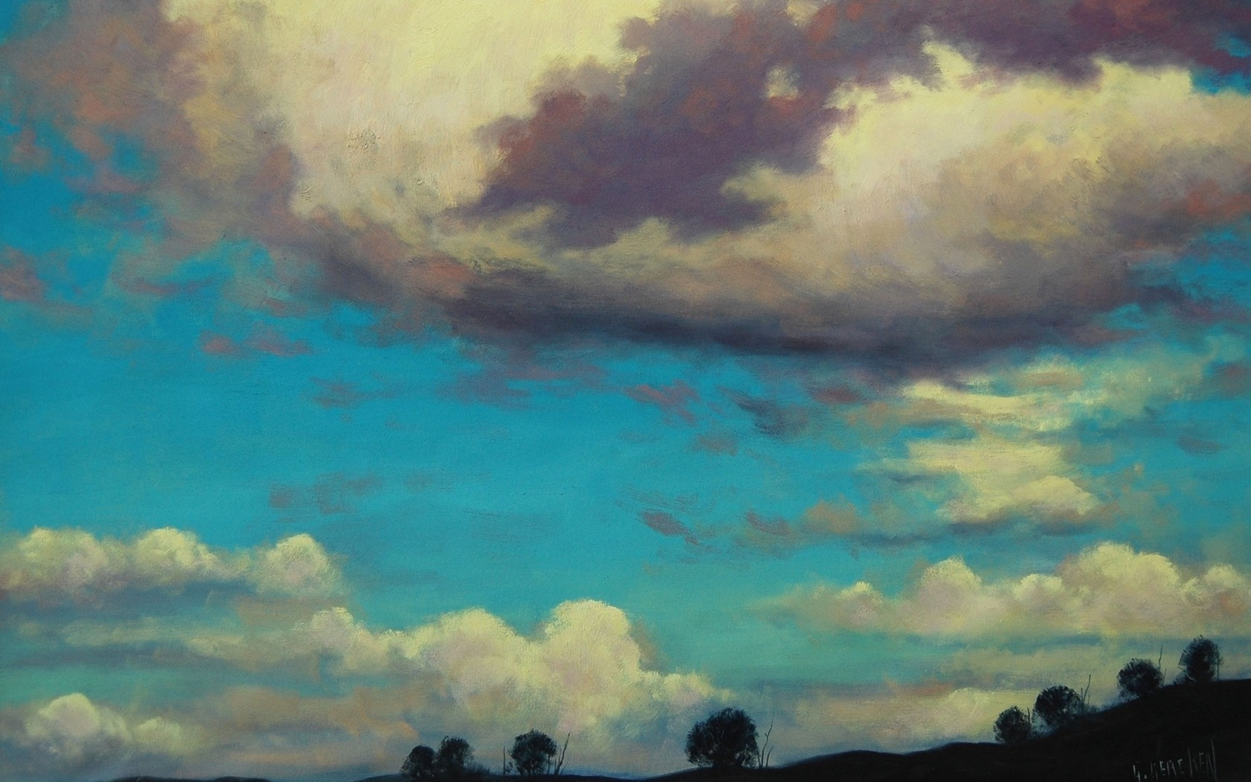 Earth Sky Wallpaperbackground 2560 X 1600 Id 411559