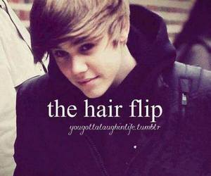 justin bieber, hair flip, and JB image