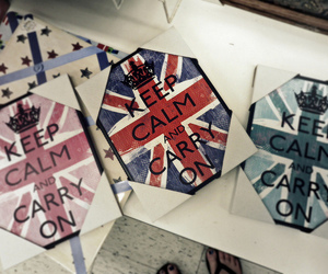 keep calm, calm, and carry on image