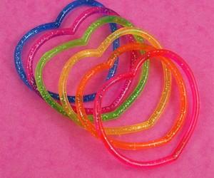 bracelet, rainbow, and glitter image